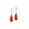 boucle d'oreilles balisier rouge soleyla