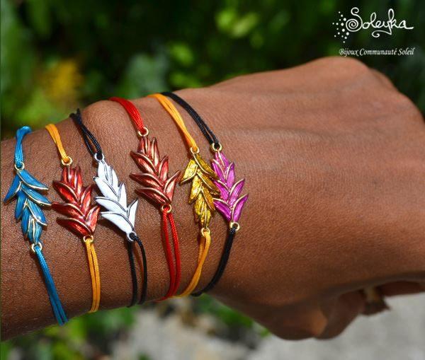 Bracelet Balisier sur cordon