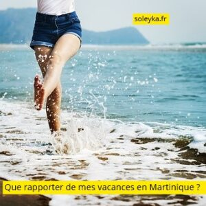 que rapporter de mes vacances en Martinique